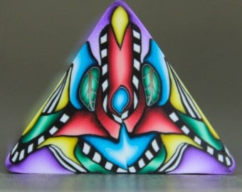Polymer Clay Triangle Cane -'Grand Adventure' (30D)