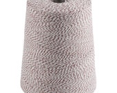 COTTON BAKERS TWINE Brown and White Variegated 4-Ply 3400 Yards 2 lb. Cone