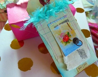 Gift tag - handmade, Blue, For you