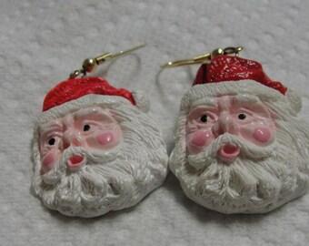Santa Claus Dangle Pierced Earrings