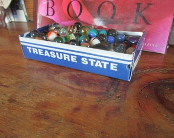 Montana License Plate Box - Vintage Treasure Tray - Storage Box - Planter - FREE SHIPPING - Gift Box - Repurposed Box - Upcycled Box