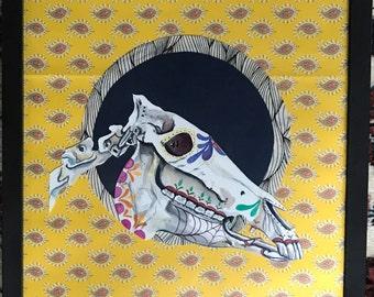 donkey sugar skull
