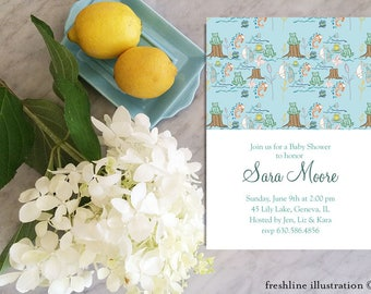 Printable Baby Shower Invitations Woodland Themed