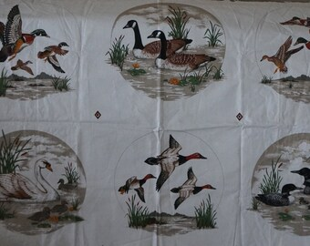 Water Birds Collection Wild Ducks Picture Patches Fabric Panel