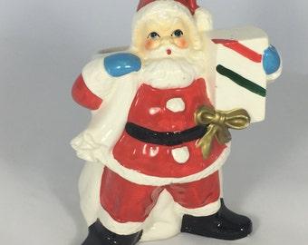 Vintage Santa Clause Planter
