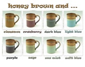 Coffee Mug Singles, Handmade Pottery 12 oz Cafe Style Stoneware Tea or Beer Mug, Color Choices for Casual or Elegant Dining, Home or Office