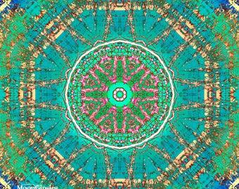 Hippie Peace - Mandala photography Graphic art altered photograph zen yoga meditation