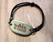 Nevertheless She Persisted Ceramic Stretchy Bracelet