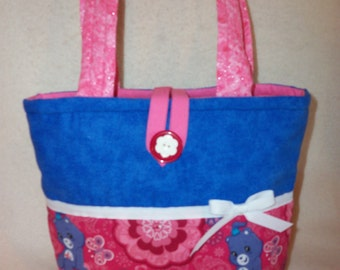 Paisley Big Girl tote Ships FREE USA 1/2 off International Care Bears Handbag purse personalize great tote perfect for 3 and up big sister