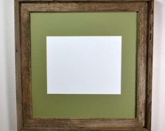 8.5x11 green mat in 16x16 reclaimed wood frame spruce up the office with this certificate frame