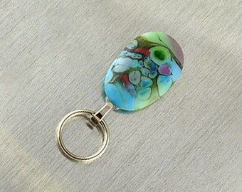 Magnetic Eyeglass Holder Handmade with Lampwork Glass, Magnetic Eyeglass Lanyard, Magnetic Badge Holder