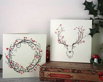 Seasonal cards for all winter occasions including Christmas and solstice festivals
