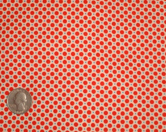 Red, Blue, White Polka Dots 31142 30 Fabric by Lecien Retro 30's Child Smile
