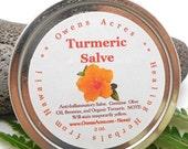 SALE... Turmeric Salve - Handmade Herbal Remedy, Reduces Swelling, Antiseptic, Inflammation, New Mom, Skin Salve, Herbal Salve,