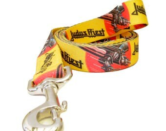 "Judas Priest ""Screaming Eagle"" Official Pet Lead 5/8"" & 1"" width dog leash"