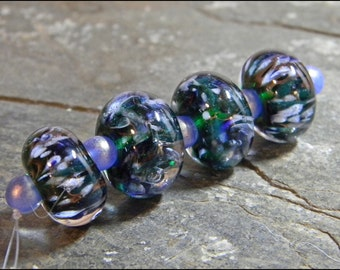 Hannah Rosner Lampwork Glass Bead Set 5 Fritty Nice Boro Bracelet Beads