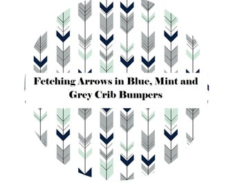 Crib Bumpers in FETCHING ARROWS-Crib Bedding-Arrow Crib Bedding-Baby Bedding-Tribal-BoyCrib Bedding