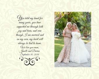 Wedding Mother of The Bride Gift Personalized To My Mom on My Wedding Day Bridal Party Favor