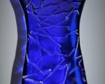 Spoon Rest Geometric Blue Glass
