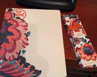 NEW!  Tory Burch drawing/mouse pad and colored pencils.  Desk activity.