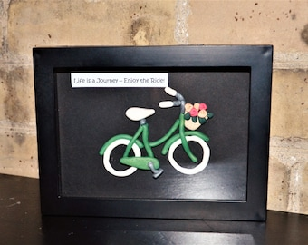 Vintage Bicycle Clay Art Picture - Enjoy the Ride