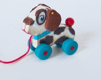 Miniature Dollhouse Dog Pull Toy KIT 101