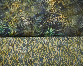 choice of 2 coordinating new Java Batiks - reduced