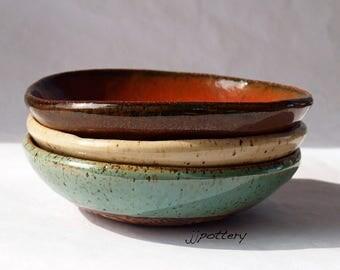Bowl, Bowls, Bowl set, dinnerware, handmade bowls, pottery bowls, ceramic bowls, prep bowls, sauce bowls, stoneware bowls