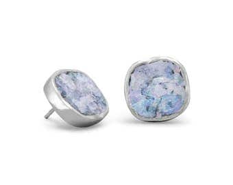 Ancient Roman Glass post earrings