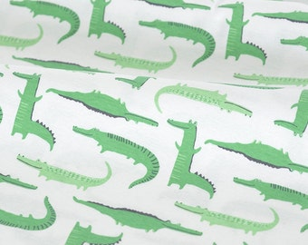 4466 - Crocodile Cotton Jersey Knit Fabric - 62 Inch (Width) x 1/2 Yard (Length)