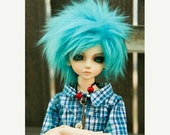 15% OFF Akasarushi color Turquoise Fur Wig Made for abjd doll size SD MSD tiny yosd and puki