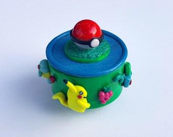 Pokemon Go Polymer Clay Trinket Box - Pikachu, Squirtle, Bulbasaur and Charmander