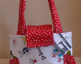 Small Dr. Seuss and Polka Dots Toddler Short Trip Diaper Bag