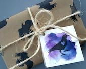 Raven - Hand Carved Rubber Stamp