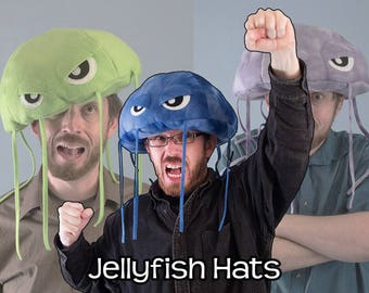 Jellyfish Hat Plush Fleece Many Colors