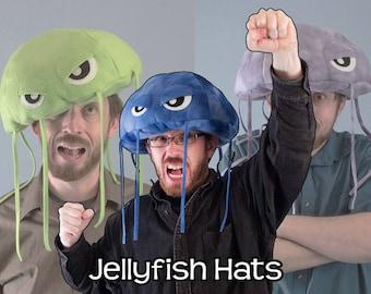 Jellyfish Hat Plush Fleece Many Colors