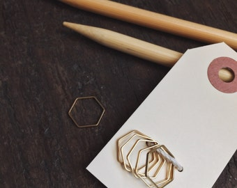 Set of Plain Hexagon Knitting Stitch Markers