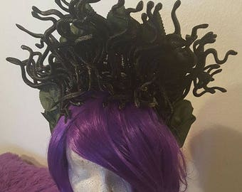 Medusa, Medusa headdress, Snake, Snake headdress, Snake headband, Halloween, Horror, Horror movie, MsFormaldehyde