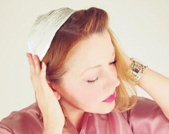50s Opalescent Sequin Small Calot Hat