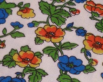 Spring Flowers - Vintage Fabric - J Manes Co - JC Penney - Cotton