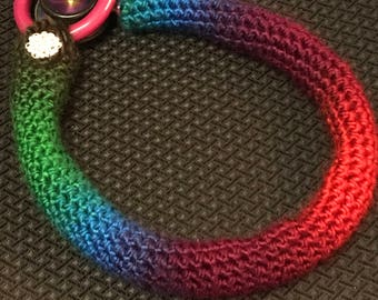 Skinny crochet stethoscope cover