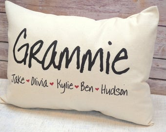 Personalized Pillow, Personalized mom, Nana gift, Mothers day gift, Mom Gift, Grandmother Gift, Grandparents day, Gift for her,
