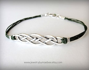 Celtic Knot bracelet Outlander Celtic jewelry Scottish bracelet Irish bracelet
