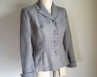 1940s Jacket - Vintage 40s Gray Wool Suit Jacket
