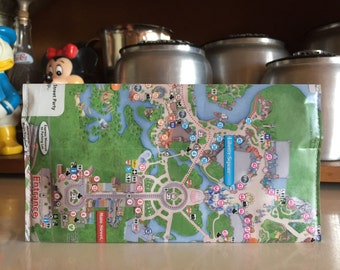 The Original Magic Kingdom Disney World Map Clutch