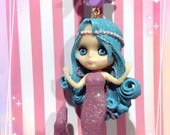 Rare Mermaid Blythe Doll Pastel Hearts And Bow Necklace