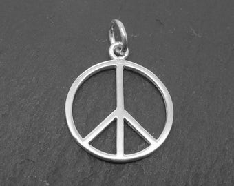 Sterling Silver Peace Pendant 15mm (CG9250)