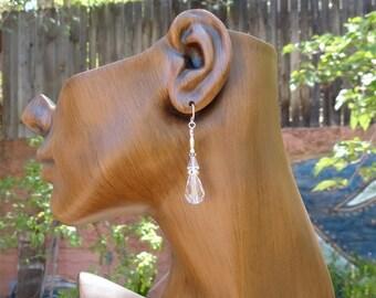 On Sale Wedding Earrings Swarovski Crystal Rhinestones Bridal Elegant by Kate Drew Wilkinson