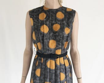 Vintage 50's Polka Dot Semi Sheer Cotton Dress