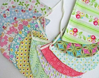 Scallop Fabric Bunting, Party Banner, Nursery Decor, Child's Room Bunting, Handmade Cotton Bunting, Event Decor Banner